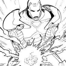 Desenho do personagem Homem de Ferro para colorir