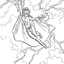 A Tempestade voando