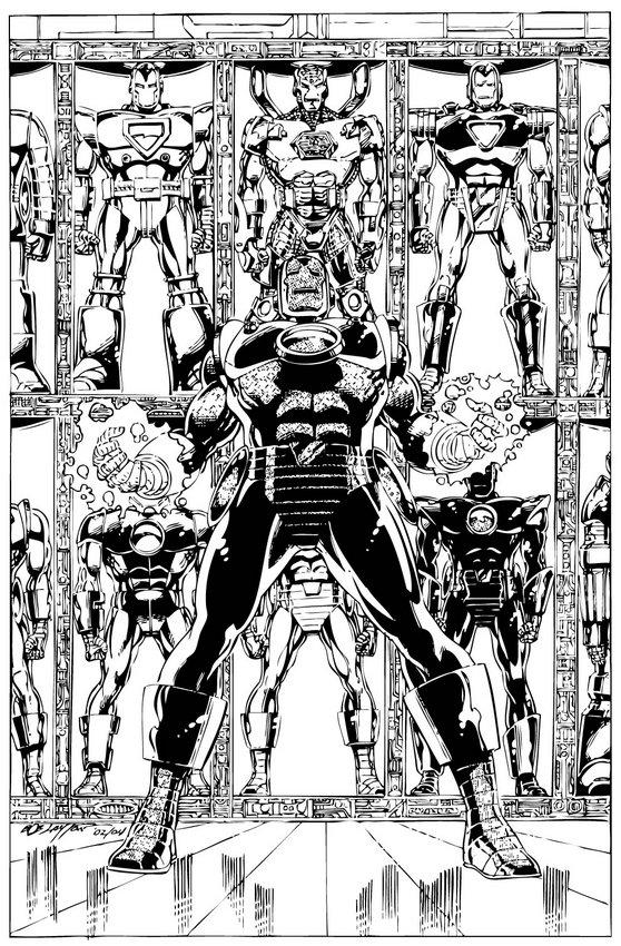 Desenho das armaduras do Homem de Ferro para colorir