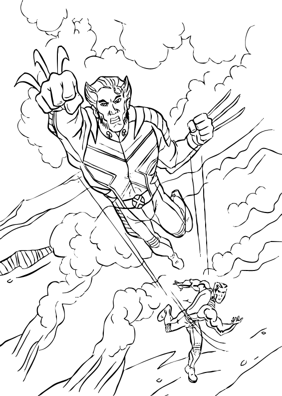 x men 2 coloring pages - photo#36