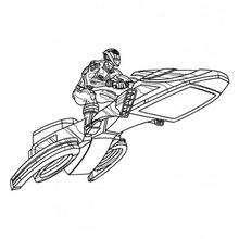 Power Ranger na sua moto voadora