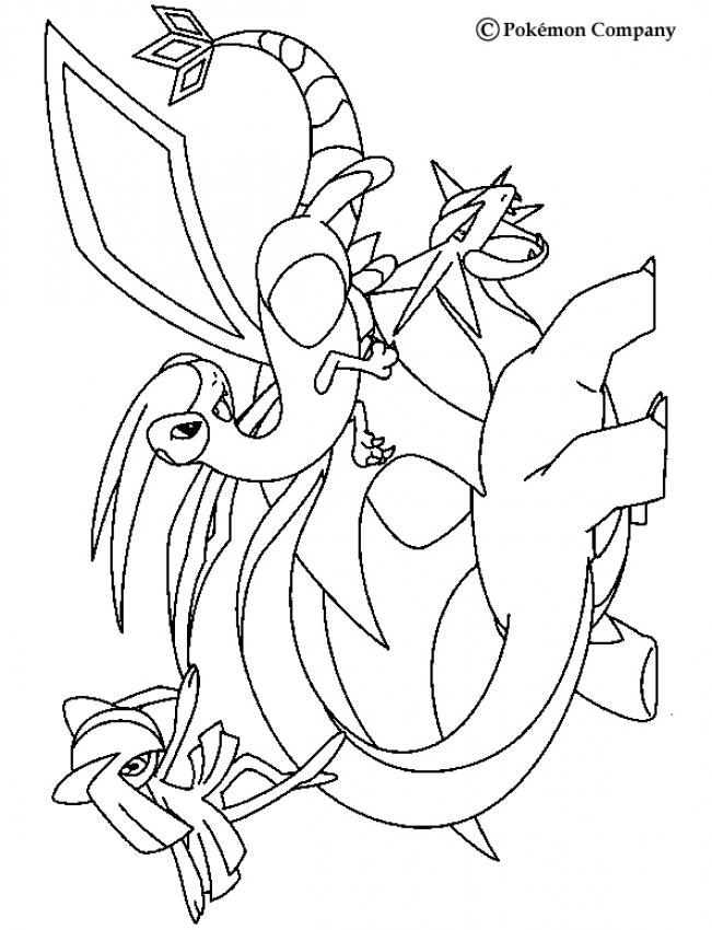 desenhos para colorir de desenho de três pokémons voadores para