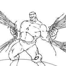 O Hulk destruindo a cidade