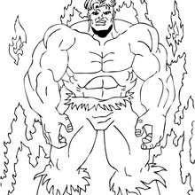 O Hulk no fogo