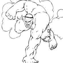 O Hulk ficando nervoso