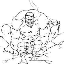O Hulk fazendo o chão tremer