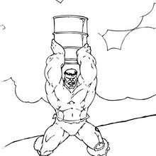O Hulk com um barril