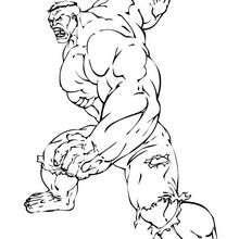 O Hulk pronto para a luta