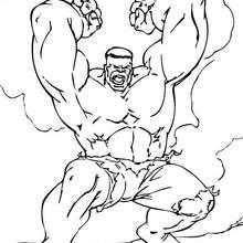 O Hulk furioso para colorir