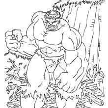 O Hulk com raiva