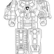 Desenho do Robô Gigante dos Power Rangers