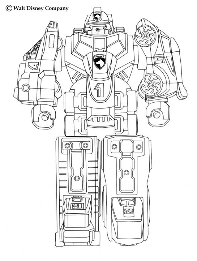 Desenhos Para Colorir De Desenho Do Rob 244 Gigante Dos Power