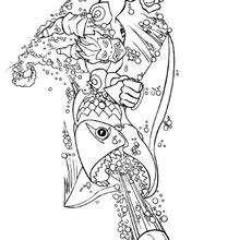 Desenho do Falcon com uma arma submarina para colorir