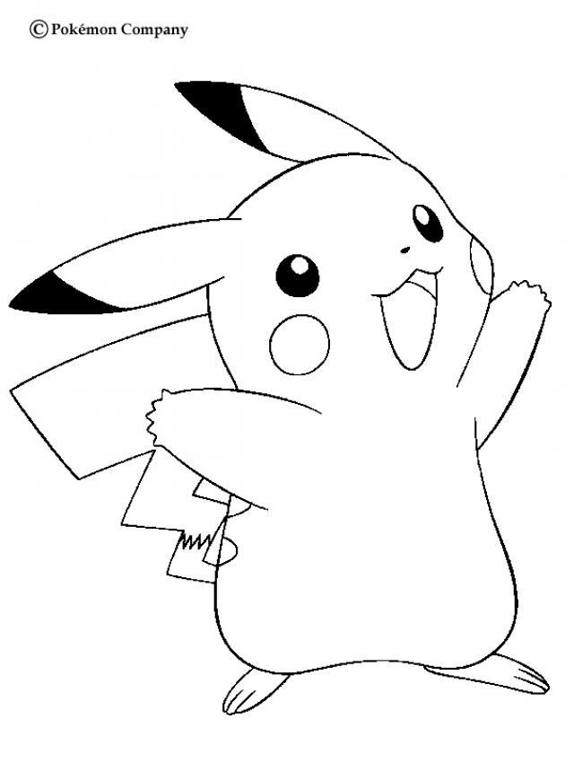 desenhos para colorir de desenho do pokémon pikachu feliz para