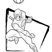 Power Rangers em plena ação para colorir