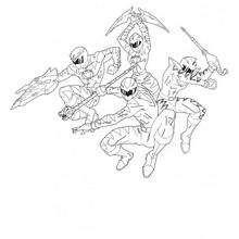 Os Power Rangers atacando