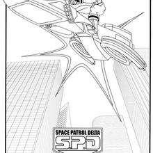 Desenho da Super Patrulha Delta para colorir