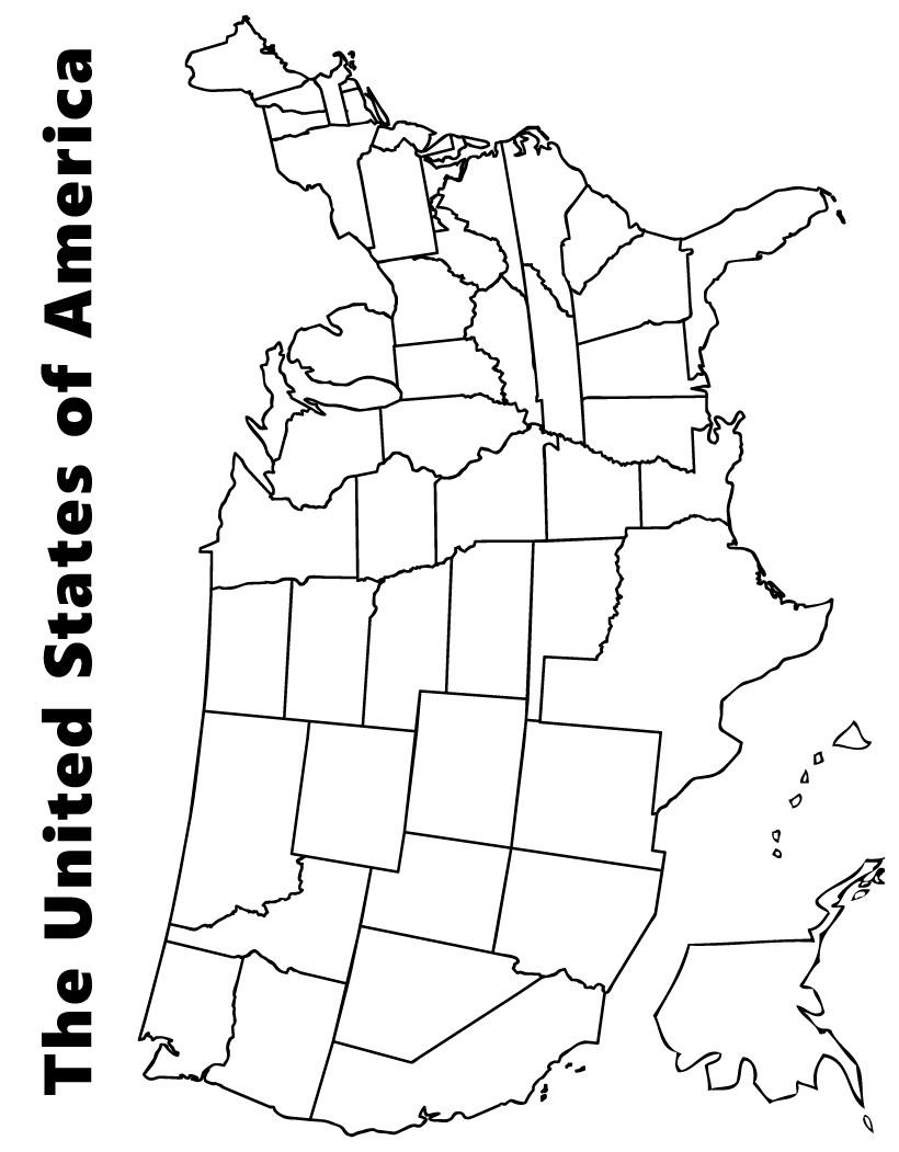us reconstruction coloring pages | Desenhos para colorir de mapa dos estados unidos para ...