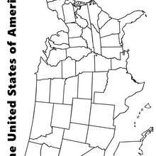 Mapa dos Estados Unidos para colorir