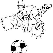Bart jogando futebol