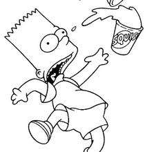 Bart derramando sua bebida