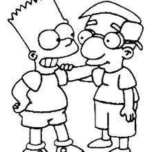 Bart com seu amigo