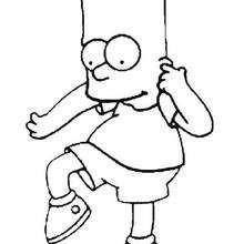 Bart fazendo palhaçada