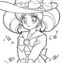 Serena com um lindo chapél
