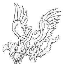 Desenho do Digimon Birdramon para colorir