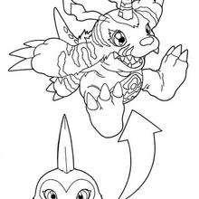 Desenho do digimon Gabumon para colorir online