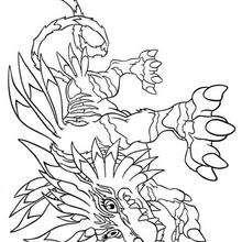Desenho do Garurumon para colorir