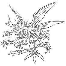Desenho para colorir do Digimon Kabuterimon