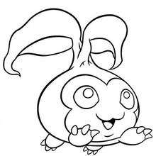 Desenho do Digimon Tanemon para colorir