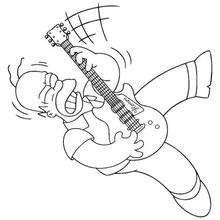 Homer tocando guitarra