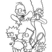 A família Simpson com medo