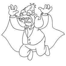Desenho do Abraham de vampiro para colorir