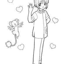Sakura, a capturadora de cartas com o Kero