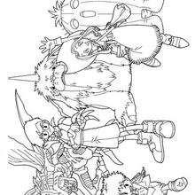 Os heróis Digimon