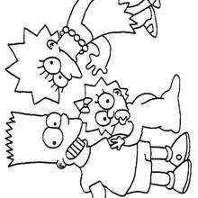 Lisa, Maggie e Bart Simpson