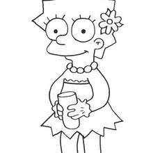 Lisa bebendo um refresco