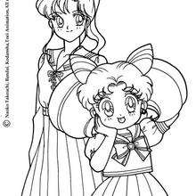 Lita Kino and Chibi Moon