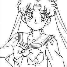 O retrato da linda Sailor Moon