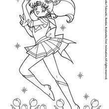 Sailor Moon no meio de flores