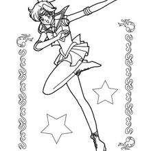 Sailor Júpiter com estrelas
