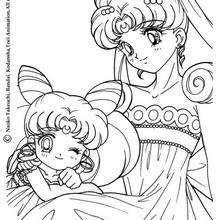 Sailor Moon com um vestido de princesa