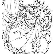 Sailor Moon com o seu lindo vestido