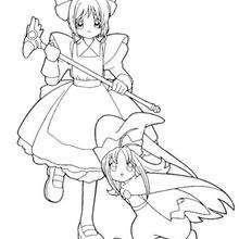 Sakura com uma menininha