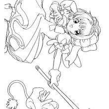 Sakura com o Kero, poderoso Guardião das cartas