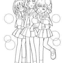 Os amigos da Sakura: Chiharu Mihara, Naoko Yanagisawa e Rica Sasaki