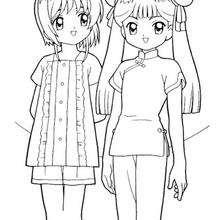Sakura com a Meiling Li